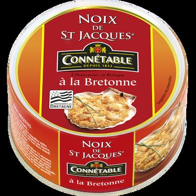 Noix de St Jacques à la bretonne 40% de noix CONNETABLE, boite 1/4, 205g