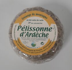 Fromage lait de vache 27% MG, Pelissonne d'Ardèche