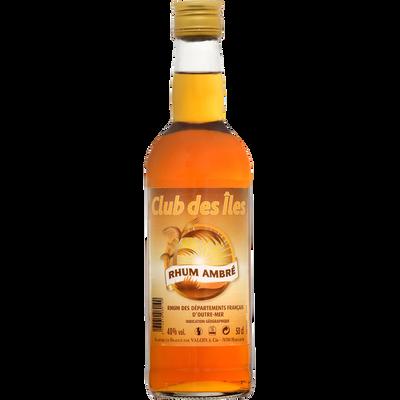 Rhum traditionnelle ambré départements français outre mer, 40°, bouteille de  50cl