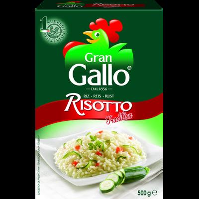 Riz pour risotto gran RISO GALLO, boîte de 500g