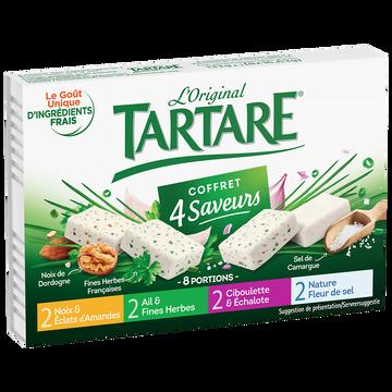 Tartare Fromage Au Lait Pasteurisé Coffret 4 Saveurs Tartare, 34%mg, 133g