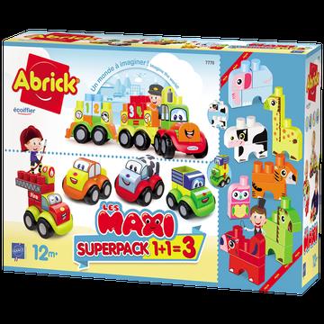 Ecoiffier Abrick - Super Pack 3 En 1 - Dès 12 Mois