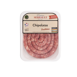 Saucisse fine supérieure, les saveurs bistro, SERRAULT, France, 1 pièce, barquette 500g