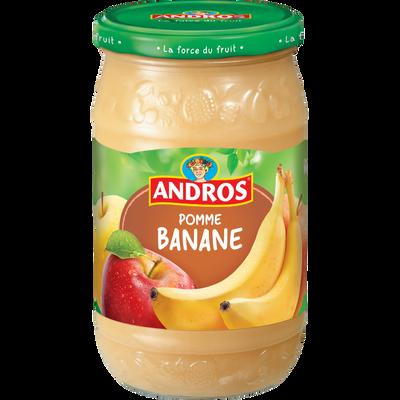 Compote à la pomme et banane ANDROS, bocal de 750g