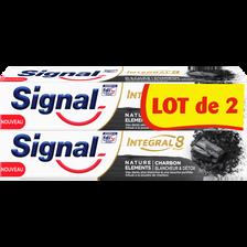 Signal Dentifrice Intégral 8 Charbon Nature Élément , 2 Tubes De 75ml