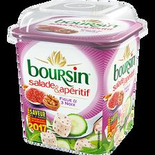 Fromage pasteurisé figue et noix BOURSIN salade & apéritif 39%mg 120g
