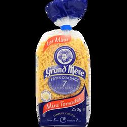 Mini-torsades IGP pâtes d'Alsace 7 oeufs frais GRAND'MERE, sachet de 250g