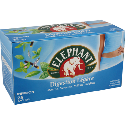 Infusions digestion légère ELEPHANT, 25 sachets, 40g