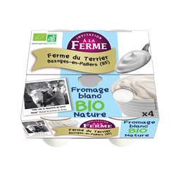 Fromage blanc nature bio le terrier x 4