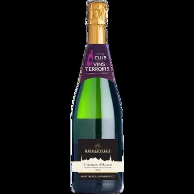 CVT Crémant d'Alsace AOP brut Martine Rolli WINDHOLTZ, bouteille de 75cl