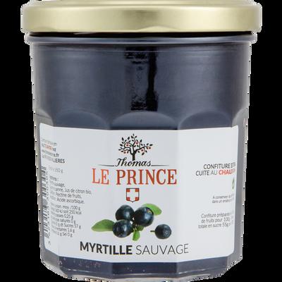 Confiture extra de myrtille sauvage THOMAS LE PRINCE, 350g