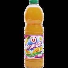 Boisson plate aux fruits tropical U, bouteille de 2l
