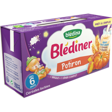 Blédina Blediner Lait, Légumes Et Potiron Blédina, Dès 4-6 Mois, 2x250ml