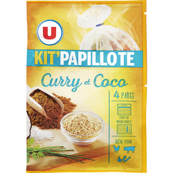 Kit papillote curry et coco U, 30g