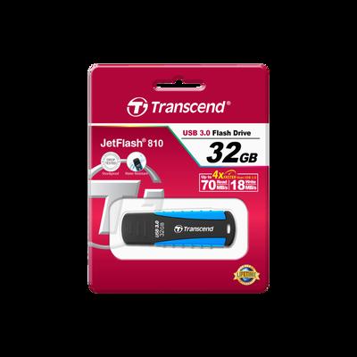 Clé USB TRANSCEND, 32Go, bleu