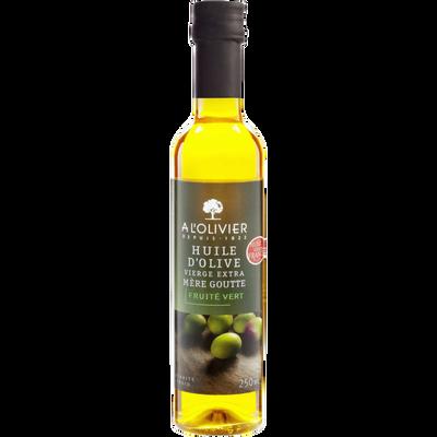 Huile d'olive extra vierge France fruitée vert bio A L'OLIVIER, bouteille de 25cl