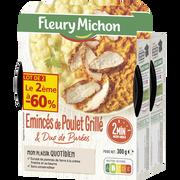 Fleury Michon Plat Émincés De Poulet Grillé Et Duo De Purées Fleury Michon, 2x300g,2ème À -60%