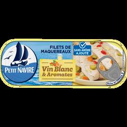 Filets de  Maquereaux Vin blanc aromates SANS ARÔME AJOUTE, 175g