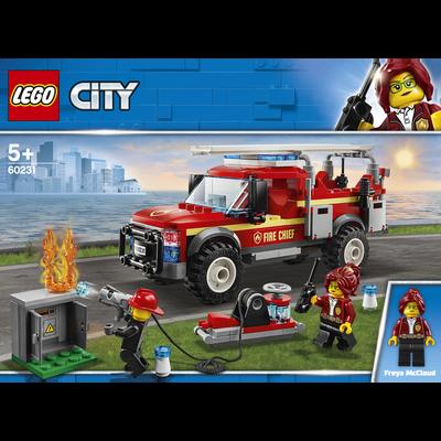 LE CAMION DU CHEF DES POMPIERS LEGO