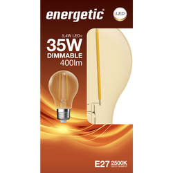 Led déco rde 35w e27 doré ENERGETIC-Ampoule déco classique