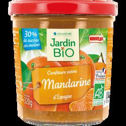 Confiture extra mandarine JARDIN BIO  320 g  bocal verre