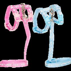 Laisse+harnais arc en ciels chat, AIME, 60g