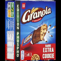 Barre extra cookies granola LU, paquet de 6 unités, 168g