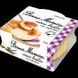 Crème brûlée aux oeufs frais BONNE MAMAN, 100g