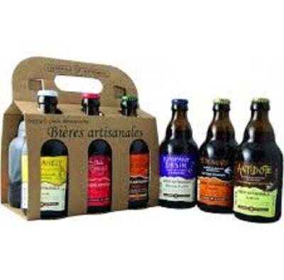 Bière artisanales auvergnates Pack découverte 6 bouteilles de 33 CL