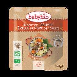 Assiette ragoût de légumes épaule de porc  BABYBIO, dès 12 mois, 190g