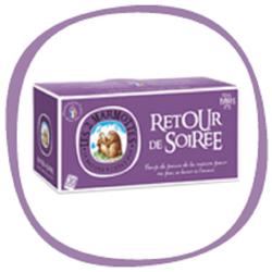 RETOUR DE SOIREE infusion des Marmottes 30 sachets  soit u poids total net de 42 g