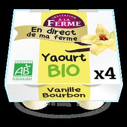 *Yaourt bio à la vanille Bourbon fermier 4x125g FERME DU TERRIER BAZOGES EN PAILLERS