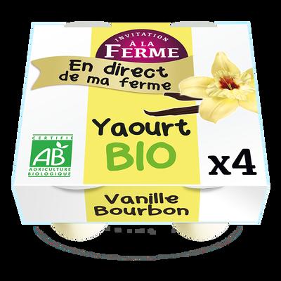 Yaourt bio à la vanille Bourbon fermier 4x125g FERME DU TERRIER