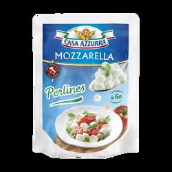 Mozzarella au lait pasteurisé de vache perlines CASA AZZURRA, 18%mg, 120g