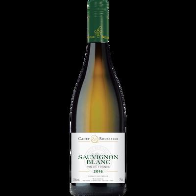 Vin blanc de France Sauvignon Cadet Rousselle, 75cl