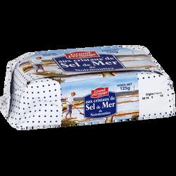 Beurre aux cristaux de sel Noirmoutier GRAND FERMAGE, 80% de MG, 125g