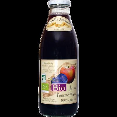 """Pur Jus de pomme prune """"saveurs de nos terroirs"""" BIO JACOBY, bouteillede 1l"""