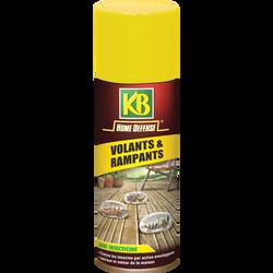 Aérosol volants et rampants KB HOME DEFENSE, 300ml, sans insecticide,élimine les principaux insectes volants et rampants par actionenveloppante