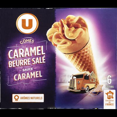 Cônes caramel beurre salé U, 6x384g