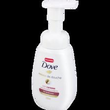 Mousse de douche soin caresse parfum crème de pistache et magnolia DOVE, pompe de 200ml
