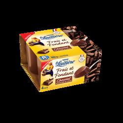 Dessert lacté crème chocolat LA LAITIERE, 4x115g