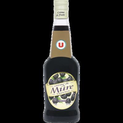 Crème de mûres sauvage U, 15°, bouteille de 70cl