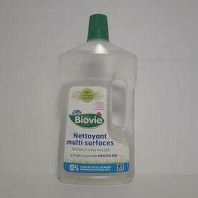 Nettoyant multi surfaces à l'huile essentielle de menthe bio BIOVIE bouteille 1L