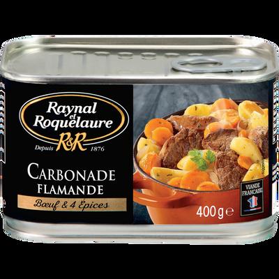 Carbonade flamande boeuf et 4 épices RAYNAL ROQUELAURE, boîte de 400g