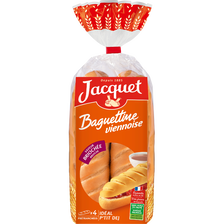 Baguettine viennoise briochée JACQUET, 4 pièces, 340g