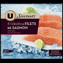 Coeurs de filets de saumon Saveurs U, 500g