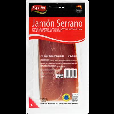 Jambon Serrano ESPUNA, 5 tranches, 100g