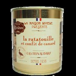 Ratatouille et confit de canard MAISON RIVIERE, boîte de 760g