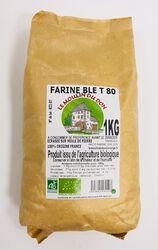 Farine de blé T80 BIO, LE MOULIN DU DON, paquet 1kg