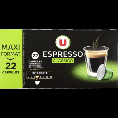 Café classico U, 22 capsules, 114g